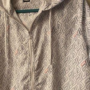 Fila - white medium windbreaker jacket